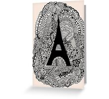 Paris: The World Was Black And White Greeting Card