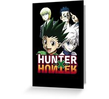 Hunter X Hunter: Gon, Killua, Kurapika, Leorio Greeting Card