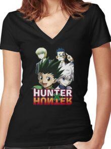 Hunter X Hunter: Gon, Killua, Kurapika, Leorio Women's Fitted V-Neck T-Shirt