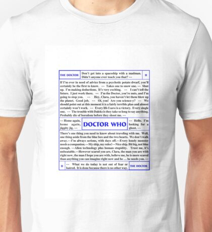Quotes from Doctor Who - the 11th Doctor with Clara Unisex T-Shirt