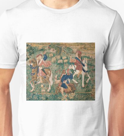 French Master Anonymous - Falconry Scene Unisex T-Shirt
