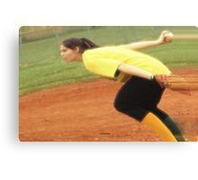 The Softball Pitcher Canvas Print