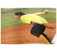 The Softball Pitcher Poster