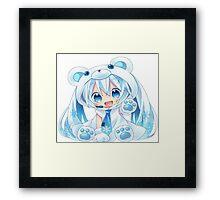 Chibi Snow Miku! Framed Print