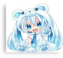 Chibi Snow Miku! Canvas Print