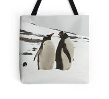 "Gentoo Penguins ~ ""Life in the Freezer"" Tote Bag"
