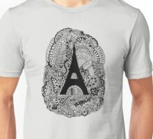 Paris: The World Was Black And White Unisex T-Shirt
