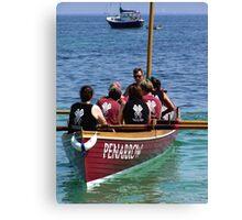 Coming ashore. Gig Racing Canvas Print