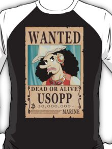 One Piece - Wanted Poster - Usopp T-Shirt