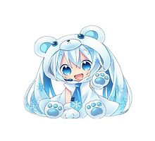 Chibi Snow Miku! by AnineBeauties