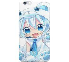 Chibi Snow Miku! iPhone Case/Skin