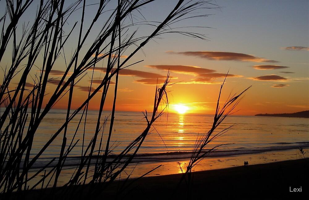Sunset November Summerland Beach by Lexi