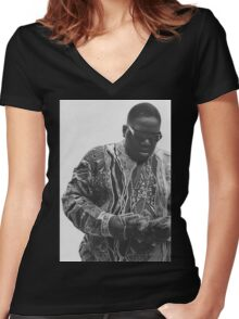 Biggie Smalls Women's Fitted V-Neck T-Shirt
