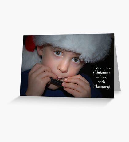 Harmonious Christmas Greeting Card