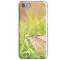 Fallen Leaf in Natural Grass Right iPhone Case/Skin