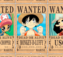 One Piece - Wanted Posters Sticker
