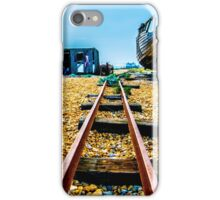 Abandoned fishing boat on Dungeness beach, Kent iPhone Case/Skin