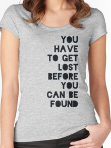 Lost and Found Women's Fitted Scoop T-Shirt