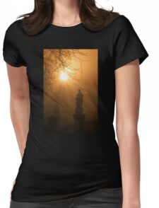 A church yard in Freiburg Womens Fitted T-Shirt