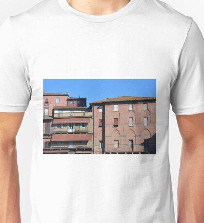 Brick buildings in Siena, Italy Unisex T-Shirt