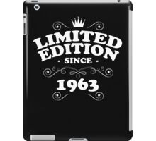 Limited edition since 1963 iPad Case/Skin