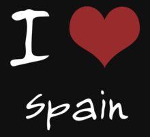 I love Heart Spain Kids Tee