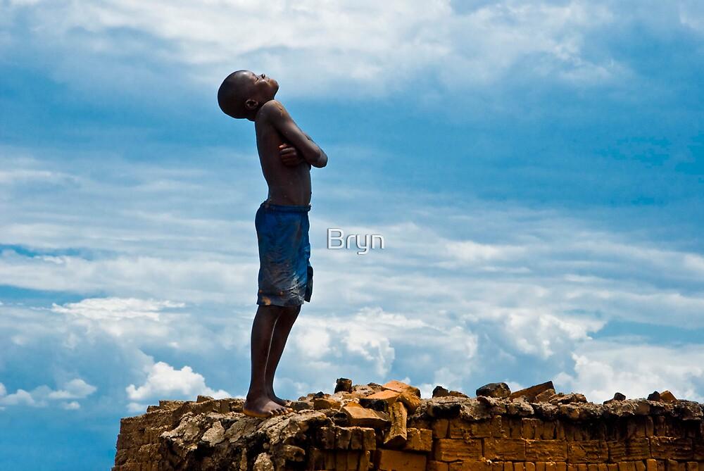 Sunning on the kiln, Burundi by Bryn