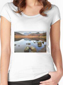 Blea Tarn, Little Langdale Women's Fitted Scoop T-Shirt