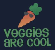 Veggies are COOL! with a carrot Kids Clothes