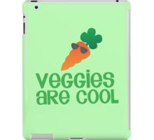 Veggies are COOL! with a carrot iPad Case/Skin