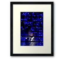 A Man behind Bars Framed Print