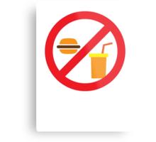 NO FOOD or DRINK hamburger and soft drink Metal Print