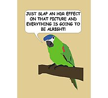 The HDR Parrot Photographic Print