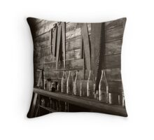 Blades & Bottles Throw Pillow