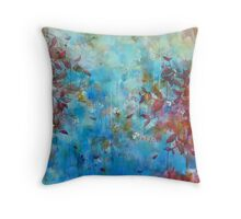 licking the dew Throw Pillow