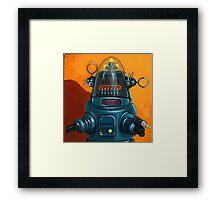 Forbidden Planet - robot painting Framed Print