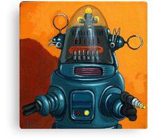 Forbidden Planet - robot painting Canvas Print