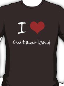 I love Heart Switzerland T-Shirt