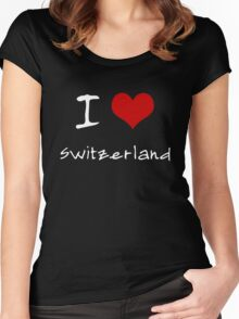 I love Heart Switzerland Women's Fitted Scoop T-Shirt