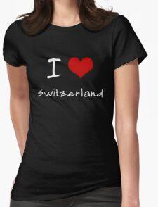 I love Heart Switzerland Womens Fitted T-Shirt