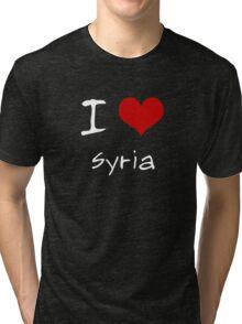 I love Heart Syria Tri-blend T-Shirt
