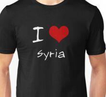 I love Heart Syria Unisex T-Shirt