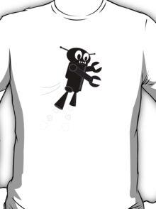 Black Flying Robot T-Shirt