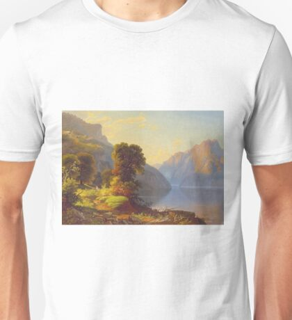George Caleb Bingham - A View Of A Lake In The Mountainscirca 1856 Unisex T-Shirt