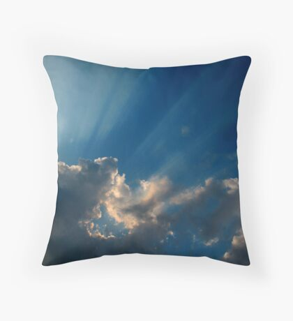 Winter Rays Throw Pillow