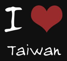 I love Heart Taiwan One Piece - Short Sleeve