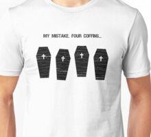Four Coffins Unisex T-Shirt