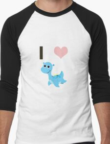 I heart Nessie Men's Baseball ¾ T-Shirt