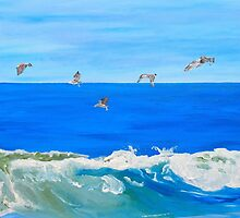 seagull queue by Sandy Maya Matzen