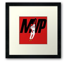 """Mike Trout """"MVP"""" Framed Print"""